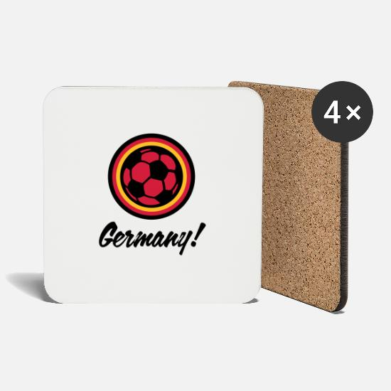 Soccer Mugs & Drinkware - Germany Football Emblem - Coasters white
