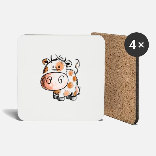 Dairy Cow Mugs & Drinkware - Cute Cow Baby - Cow - Cows - Child - Baby - Birth - Coasters white