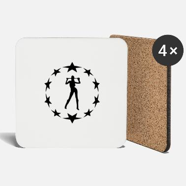 Circle Underwear stars wreath special - Coasters