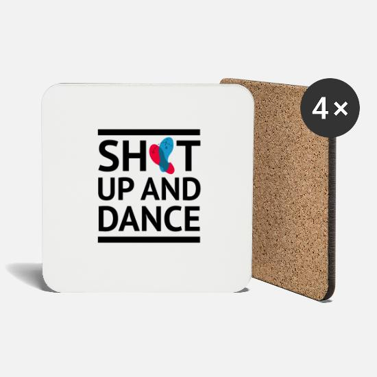 Line Dancing Mugs & Drinkware - Shut up and dance dancing shirt saying - Coasters white