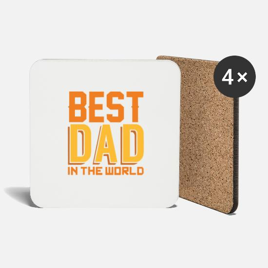 Super Dad Mugs & Drinkware - Best DAD in the World - Coasters white