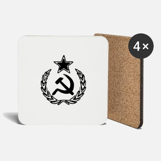 Ussr Mugs & Drinkware - ussr - Coasters white