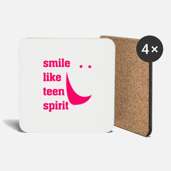 Cool Mugs & Drinkware - Smile Like - Coasters white