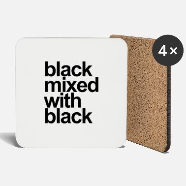 Black Black mixed with black - Coasters