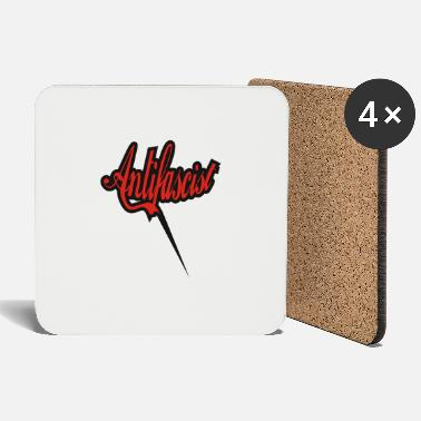 Antifaschist Antifaschismus Antifascist Antiracist - Coasters