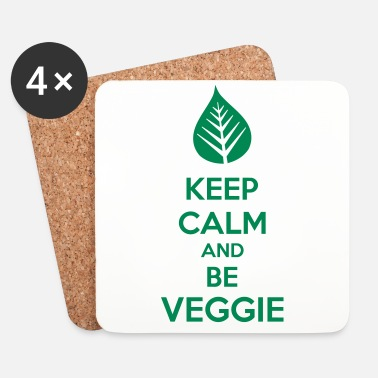Keep Calm Keep Calm And Be Veggie - Lasinalustat (4 kpl:n setti)