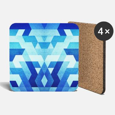 Collections  Blue Geometry  Triangle Pattern - Handy Case  - Coasters