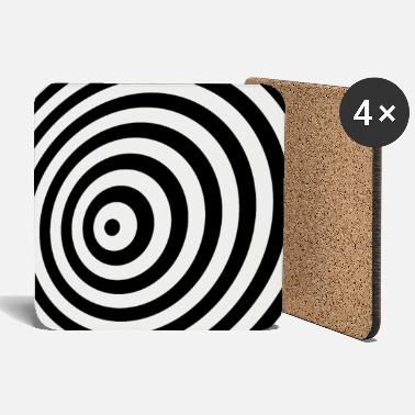 Kids &amp Minimum Geometry Illusion in Black & White(OP-Art) - Coasters