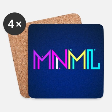 House Minimal Type (Colorful) Typographie - Handy Cover - Posavasos (juego de 4)