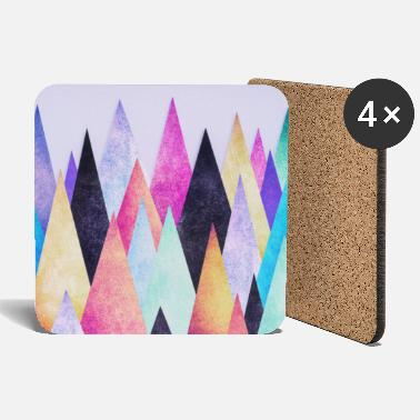 Hipster triangles (geometry) Abstract Mountains  - Posavasos