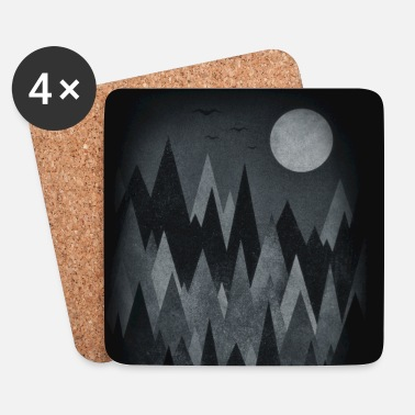 Scary Forest Art (Abstract triangles) Phone Case - Glasbrikker (sæt med 4 stk.)