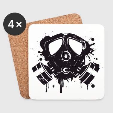 Gas mask graffiti - Coasters (set of 4)