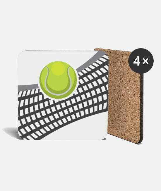 Tennis Racket Mugs & Drinkware - Tennis net - Coasters white