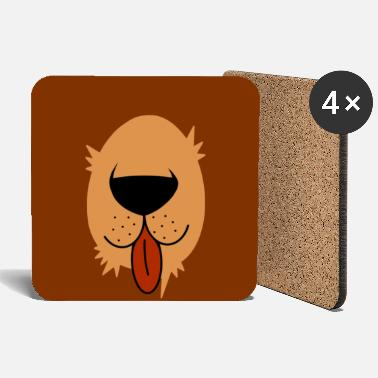 Brown Bear Bear snout - brown bear face mask - Coasters