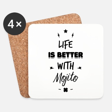 Playa life is better with mojito - Posavasos (juego de 4)