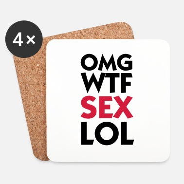 Lol OMG WTF LOL SEX - Dessous de verre (lot de 4)