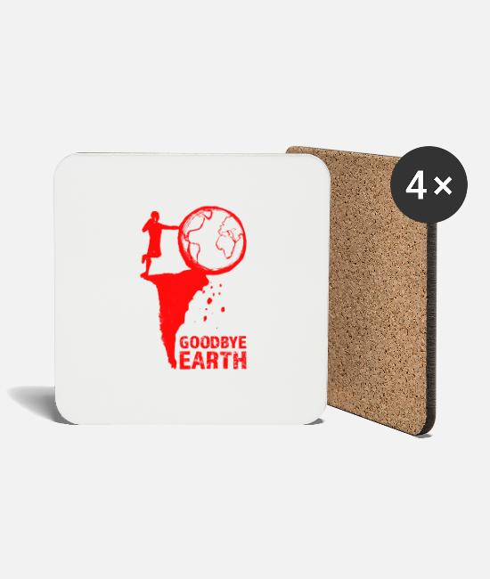 Nature Mugs & Drinkware - Goodbye Earth - Coasters white