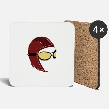 Aviator White Men's Boxer - Coasters