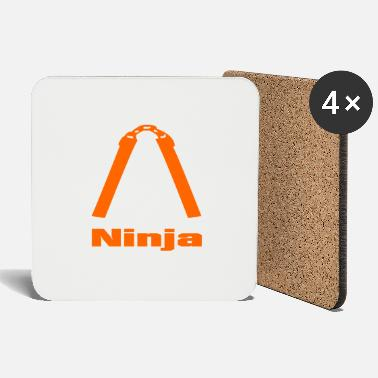 Ninja Nunchaku Orange 2 - Coasters