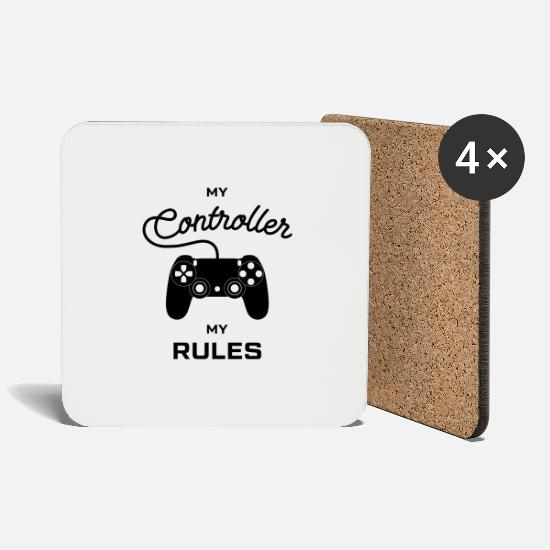 English Mugs & Drinkware - My controller my rules English Vector - Coasters white