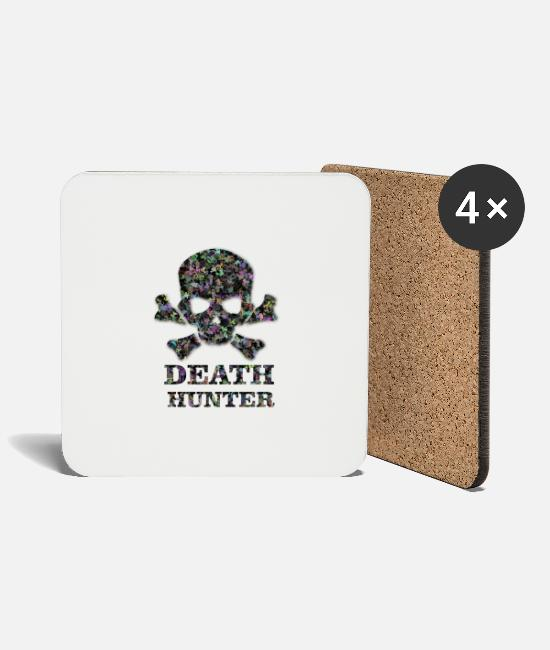 Heavy Mugs & Drinkware - deaht hunter, hunter x hunter - Coasters white