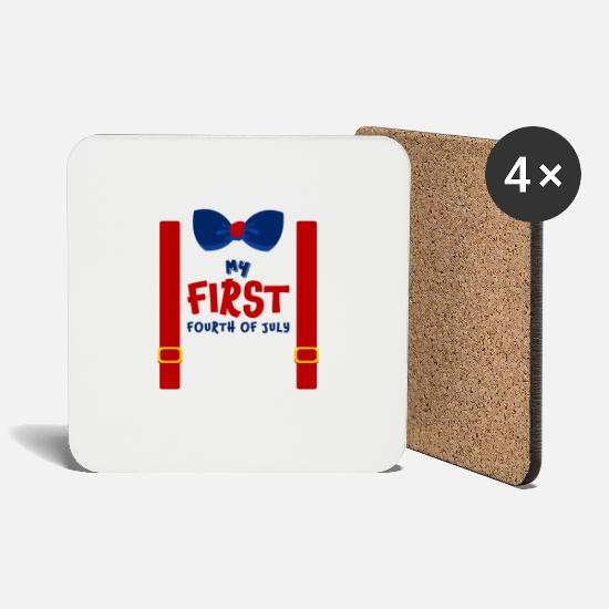 National Mugs & Drinkware - My First Fourth Of July - Coasters white