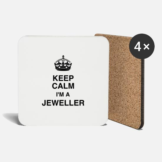 Jewel Mugs & Drinkware - Jeweler Jewel Juwelier Bijoutier Bague Diamant - Coasters white