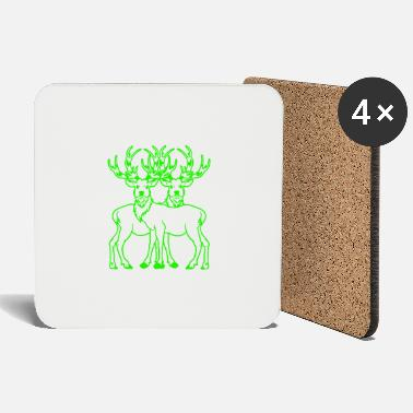 Sweden Moose deer Wild deer nature Xmas fantasy - Coasters
