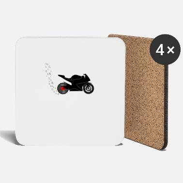 Racing Machine Motorcycle racing machine vinyl record player - Coasters