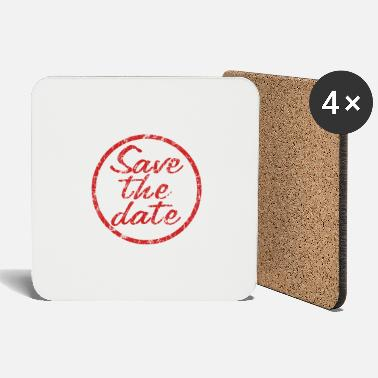 Date Save the Date - Coasters