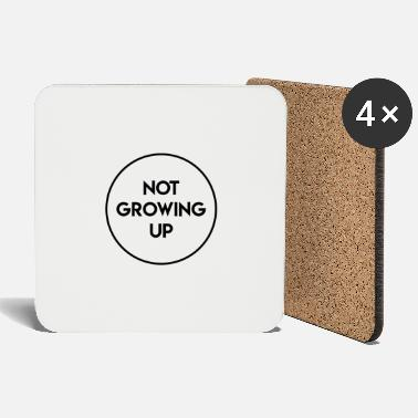 Not Growing Up Logo - Coasters