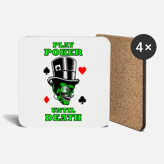 Gift Idea Mugs & Drinkware - Poker Casino Gambling Sayings Shirt Gift - Coasters white