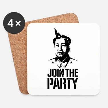 Stencil Join the Party - Mao Zedong - Underlägg (4-pack)
