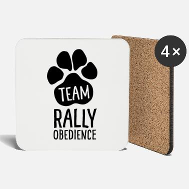 Rally Obedience Team Rally Obedience - Dog Paws - Dog Sport - Coasters