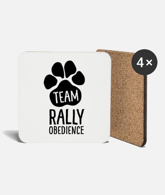 Motion Mugs & Drinkware - Team Rally Obedience - Dog Paws - Dog Sport - Coasters white