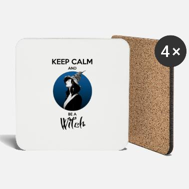 Keep Calm and be a Witch (blue) - Dessous de verre