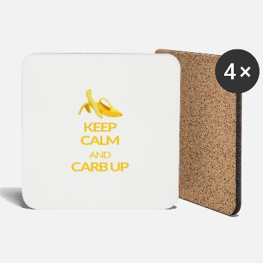 Up KEEP CALM and CARB UP - Untersetzer