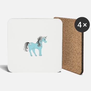 Mythical Mythical blue unicorn - Coasters