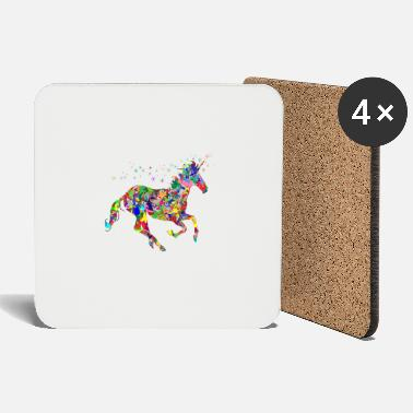 Mythical Mythical colorful unicorn - Coasters