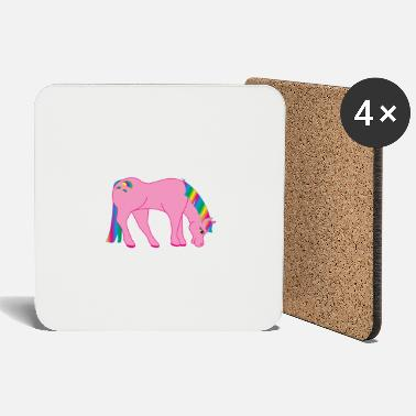 Mythical Mythical pink unicorn - Coasters