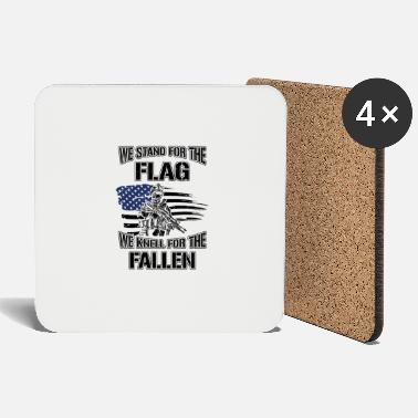 Citizen We stand for the flag we knell for the fallen USA - Coasters