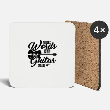 Guitar Player Gift for guitar player, Gift Guitar player - Coasters