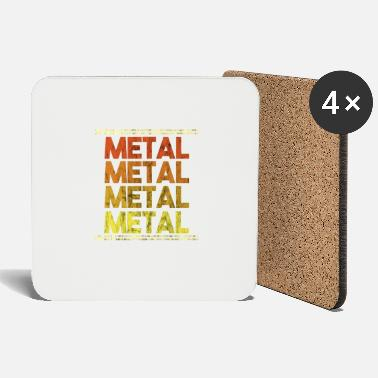 Metal Music Metal Music Shirt - Gift - Coasters