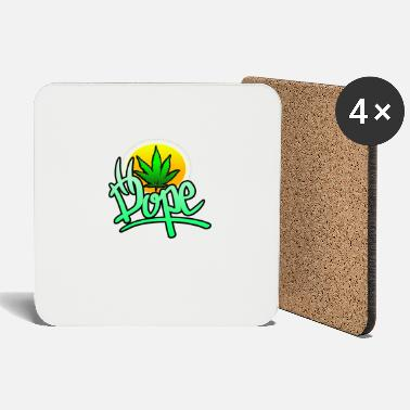 Dope with hemp leaf - Coasters