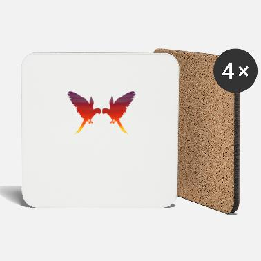 Ara PARROT ARA BUTTERFLY SUNSET TROPICAL - Coasters