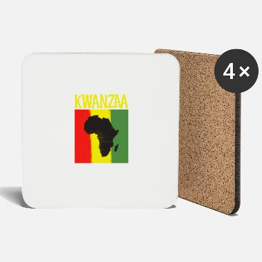 Ancestry Kwanzaa Africa Map Black Ancestry Heritage Holiday - Coasters