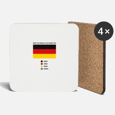 what the german flag stands for funny saying - Coasters