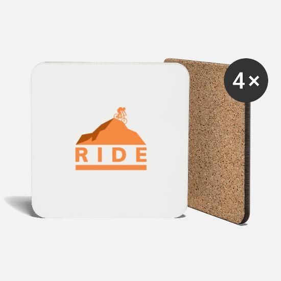 Ride Bike Mugs & Drinkware - Ride gift bike mountain bike - Coasters white