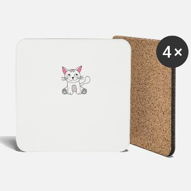 Californication Cat Catlovers amor patas de mascotas catión nerd geek - Posavasos
