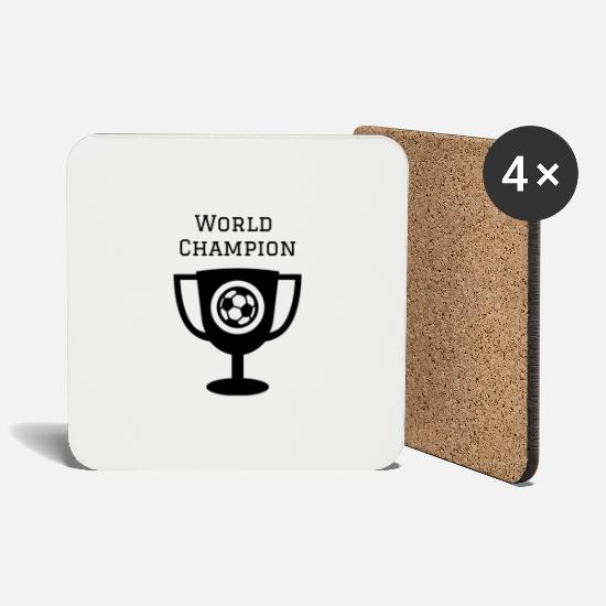 Trophy Mugs & Drinkware - world champion - Coasters white